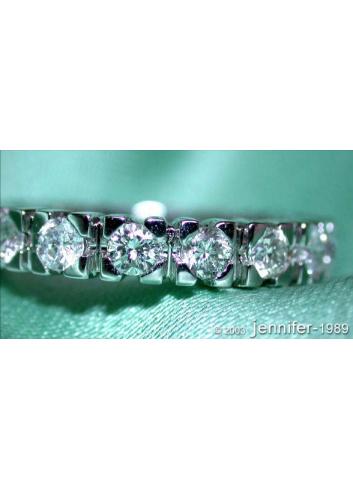 Brillanten Memory Ring / Brillanten Memoire Ring