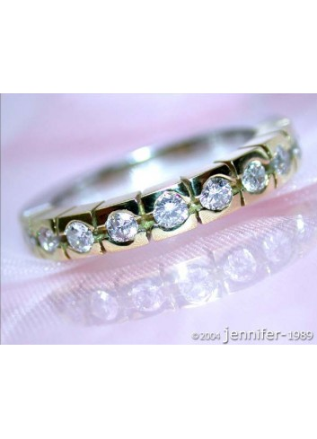 Timeless Diamond Eternity Ring (Two Tone Finish)