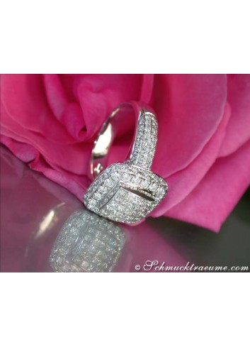 Terrific Diamond Square Ring (Princess & Brilliant Cut)