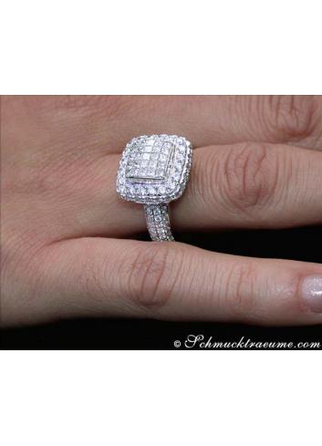 Ring mit Diamanten (Princess & Brillant)