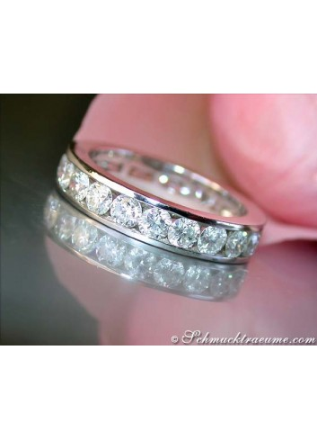 Stately Diamond Eternity Ring (Channel Setting)