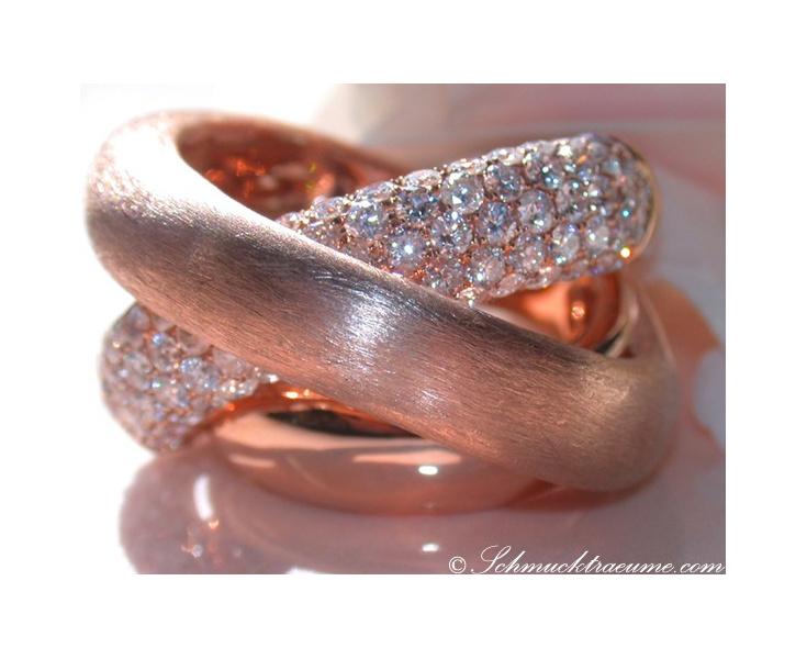 Brillanten Ring in Roségold