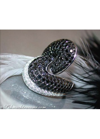 Magnificent Black & White Diamond Ring