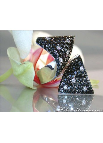 Black & White Diamond Polkadot Ring