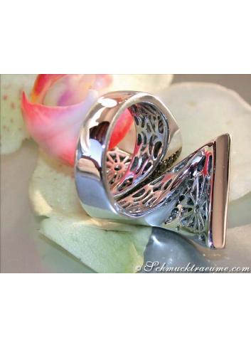 Black & White Diamond Polkadot Ring