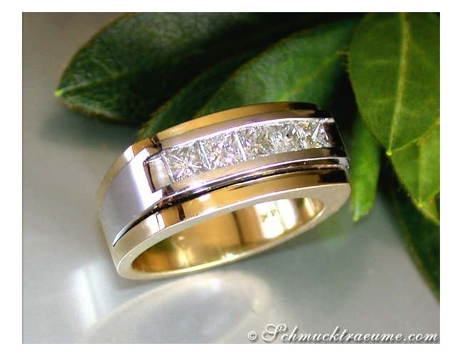 Heavy Men's Ring with Diamonds