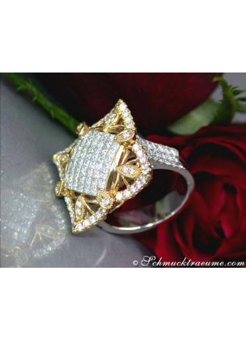 Excellent & Complexly Crafted Diamond Ring