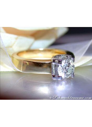 Diamant Solitär Einkaräter Ring