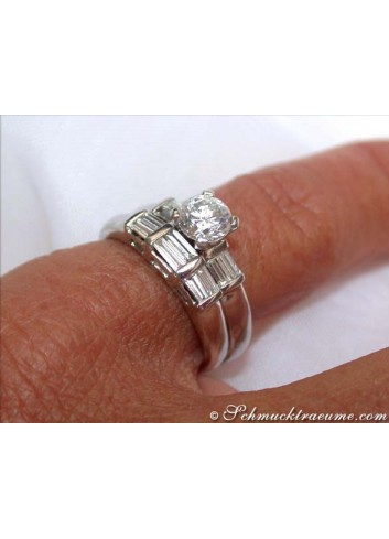 Diamond Solitaire Ring incl. Stacking Ring