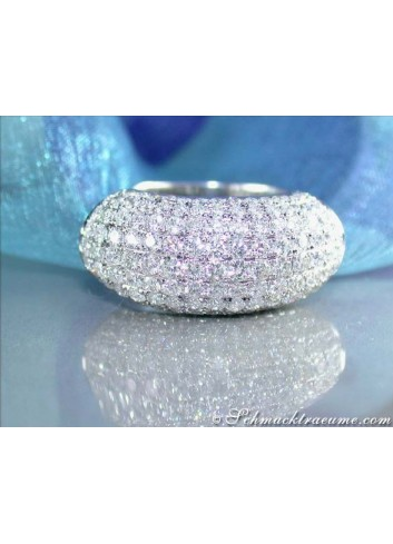 Exklusive Diamond Pavé Ring in White gold 18k