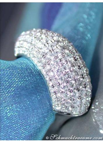 Exklusiver Diamanten Ring in Weißgold 750