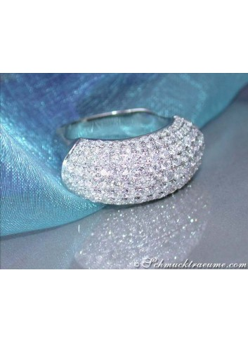 Exclusive Diamond Pavé Ring in White gold 18k