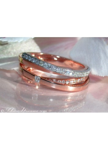 Elegant Two Tone Diamond Ring