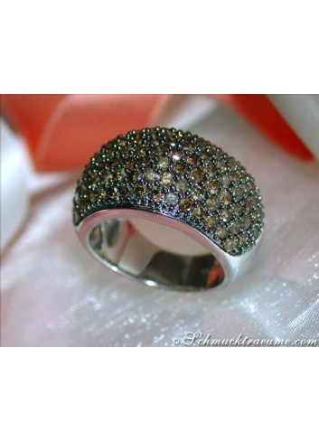 Braune Brillanten Ring