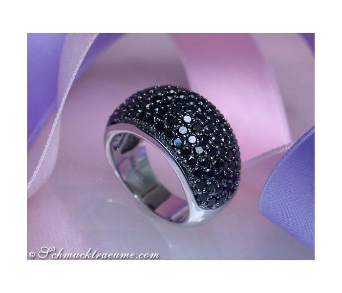 Stately Black Diamond Ring