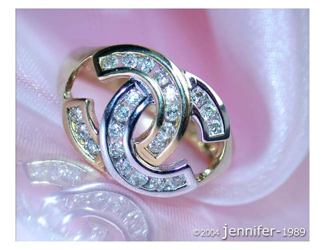 Pretty Double C Diamond Ring