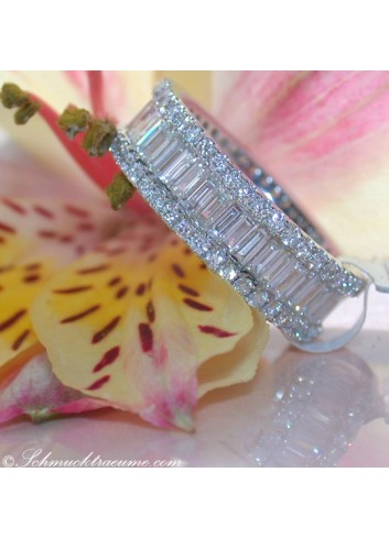Top-class Diamond Eternity Ring (Brilliant & Baguette Cut)