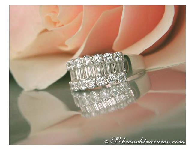 Terrific Baguette Cut Diamond Ring