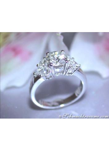 Diamant Verlobungs Ring Solitär Einkaräter