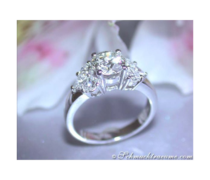 Precious Diamond Solitaire Ring (Heart Design)