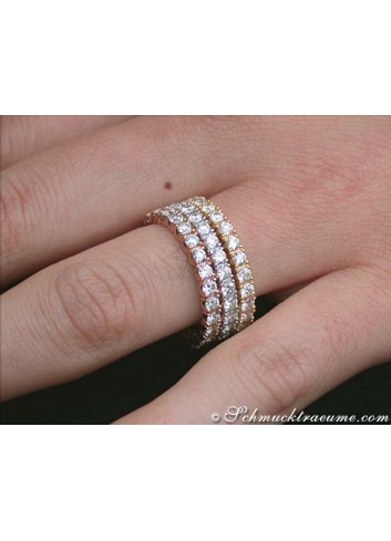 Three timeless diamonds eternity rings