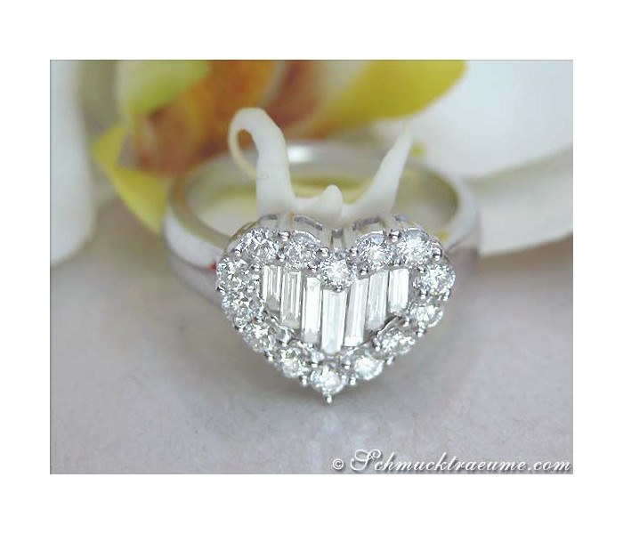 Brillanten / Diamanten Herz Ring