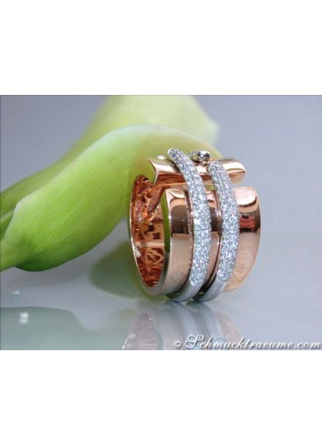 Diamanten Ring in Roségold 750