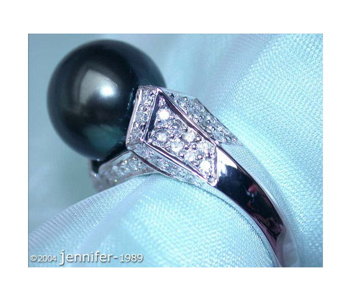 Edler Tahitian pearl diamonds ring
