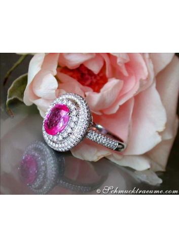 Noble Pink Sapphire Diamond Ring