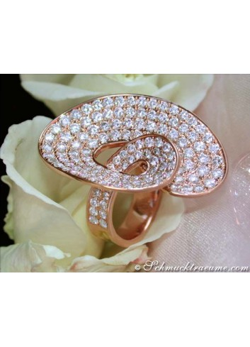 Extravaganter Brillanten Ring in Roségold