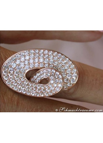 Extravaganter Brillanten Ring in Roségold