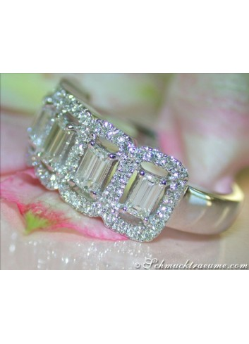 Brillanten Diamanten Memory Ring / Brillanten Diamanten Memoire Ring