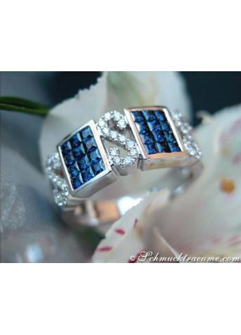 Saphir Brillanten Ring