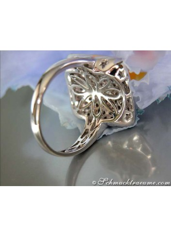 Sporty Natural Brown & White Diamond Ring