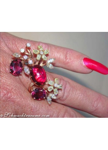 Pink Turmalin Ring