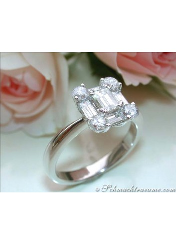 Picture perfect Diamond Ring (Square Design)