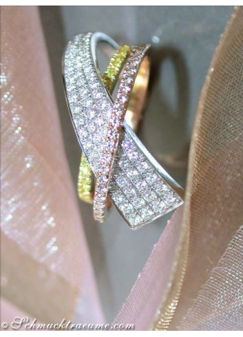 Beautiful Yellow & White Diamond Ring