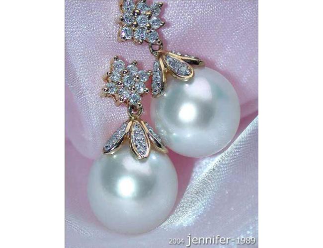 Südseeperlen Ohrringe mit Diamanten
