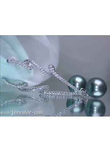 Precious Tahitian Pearl Dangling Earrings