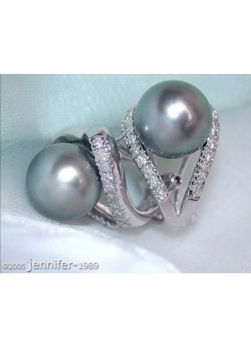 Attractive Tahitian Pearl Clip Earrings