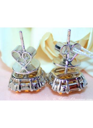 Gorgeous Yellow Diamond Stud Earrings