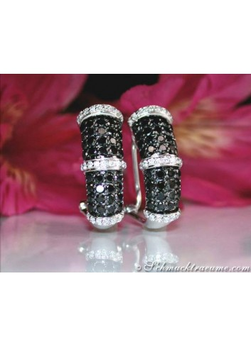 Timelessly Elegant Black & White Diamond Earrings