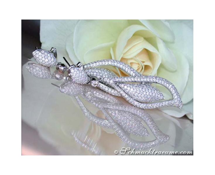 Extra Long Diamond Earrings (4,54 ct.)