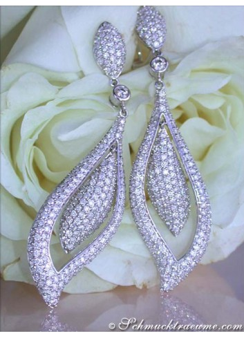 Extra Long Diamond Earrings (4,54 ct.)
