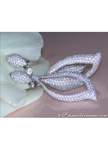 Extra long diamonds earrings