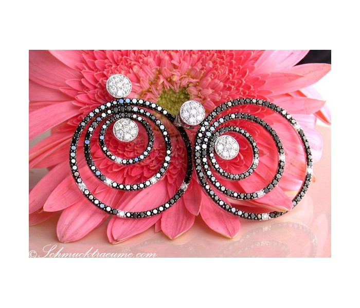 Unmissable Black & White Diamond Earrings