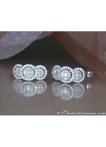 Pretty Diamond Earrings (Princess, Marquise & Round Cut)