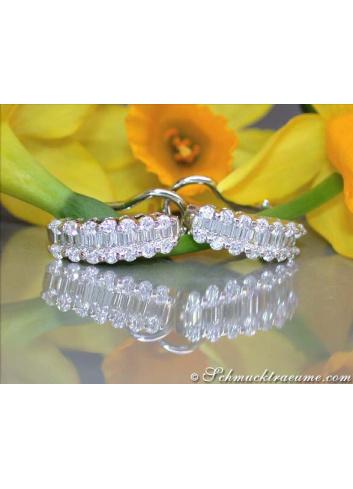 Beautiful Diamond Earrings in White gold 18k