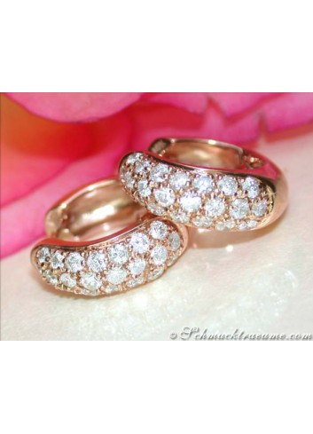 Timeless Diamond Hoop Earrings in Rose gold 14k