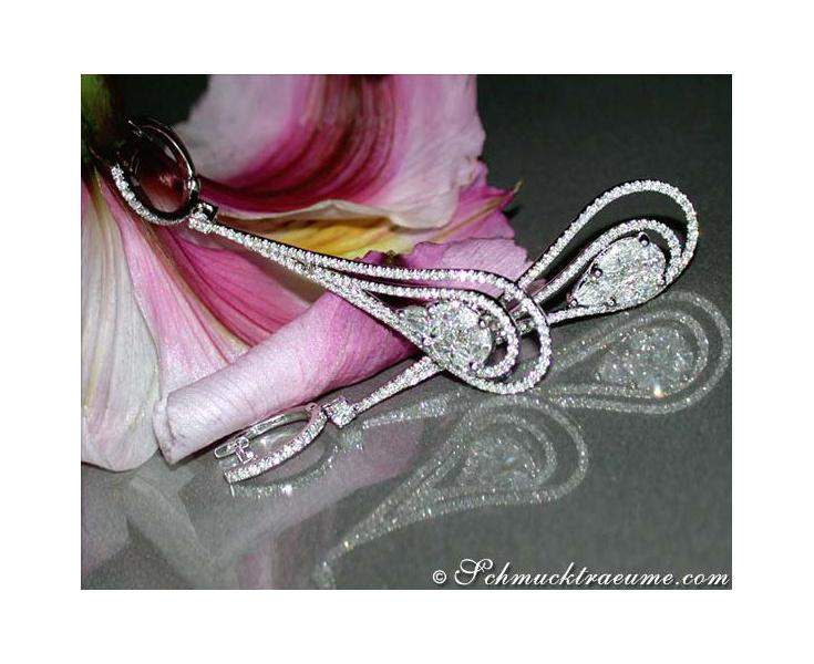 Luxus Diamanten Ohrringe